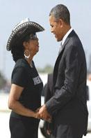Frederica Wilson with Presi1 President Barack Obama endorses Congresswoman Frederica Wilson