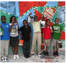 Murals Park Murals for Dorsey Park Community Paint A Thon Fundraiser 2013