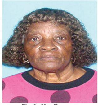 MISSING ELDERLY WOMAN Missing elderly woman