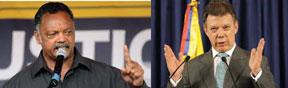 Rev. Jessie Jackson and President Juan Manuel Santos