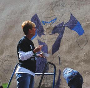 YMCA-Sheryl-painting-mural-