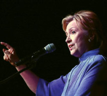 Hillary Clinton up close
