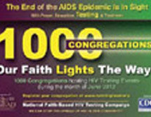 Over 1000 congregations are preparing for HIV Testing in The Our Church Lights The Way Campaign