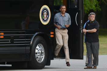 Obama bus President's campaign bus tour starts in Ohio and Pennsylvania