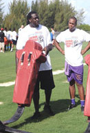 Tampa Bay Buccaneers and Davin Joseph host free football camp