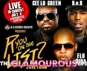 "r you on the list 300x248 Flo Rida, Cee Lo Green & B.O.B Kickoff ""R You on the List Tour"" in Miami!"