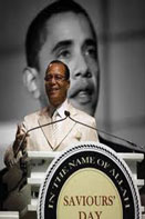 farrakanbarack Louis Farrakhan speaks to the racial hatred thrust onto President Obama