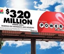 Powerball rises to $320 million, fourth-largest jackpot ever