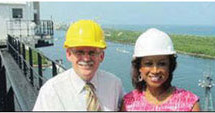 Lt. Governor Carroll gets a bird's-eye view of Port Everglades and its expansion projects