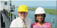 LT GOV. CARROLL2 Lt. Governor Carroll gets a birds eye view of Port Everglades and its expansion projects