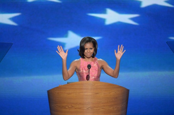 MIchelle OBama 27 Bill Clinton will highlight convention tonight with forceful defense of Obama
