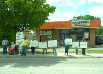 snapper62 Racial slur causes protest against  Pompano Beach restaurant
