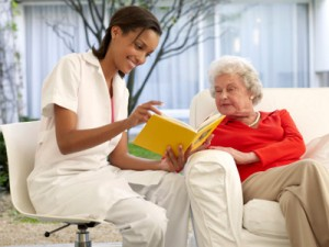 volunteer in nursing home 1 300x225 LAWSUIT CHALLENGES STATE ON NURSING HOME RESIDENTS INCOME