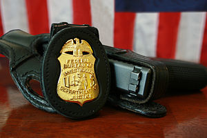 300px FBI Badge  gun FBI arrests dozens in ID theft tax fraud takedown in South Florida