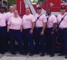 Fort Lauderdale Firefighters Go Pink for the Month of October