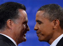 Obama wins presidential deb Obama tops Romney in two instant post debate polls
