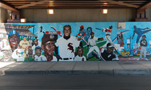 WHITE SOX White Sox pay tribute to Black ball players with mural at Bronzeville Metra Station
