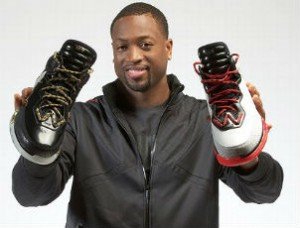 dwayne wade holding li ning sneakers1 300x228 Dwyane Wade announces shoe deal with Li Ning