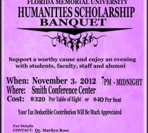 Humanities Scholarship Banquet