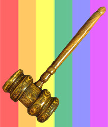 rainbowgavel web8 HIGH COURT WEIGHS LESBIAN PARENTAL RIGHTS CASE