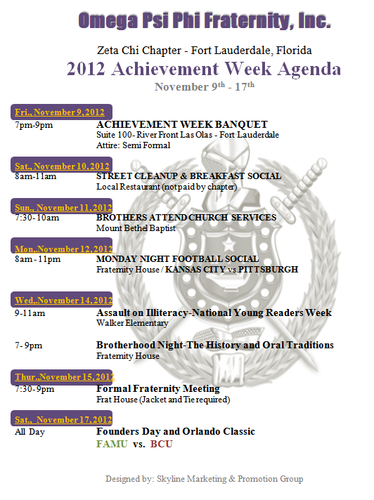 552 2012 Achievement Week Banquet   Zeta Chi Chapter of Omega Psi Phi Fraternity, Inc.