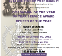 2012 Achievement Week Banquet – Zeta Chi Chapter of Omega Psi Phi Fraternity, Inc.