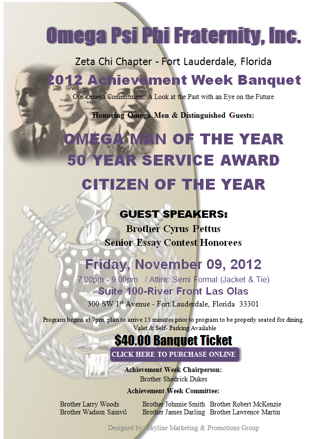 554 2012 Achievement Week Banquet   Zeta Chi Chapter of Omega Psi Phi Fraternity, Inc.