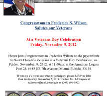 Congresswoman Wilson Veterans Day Salute