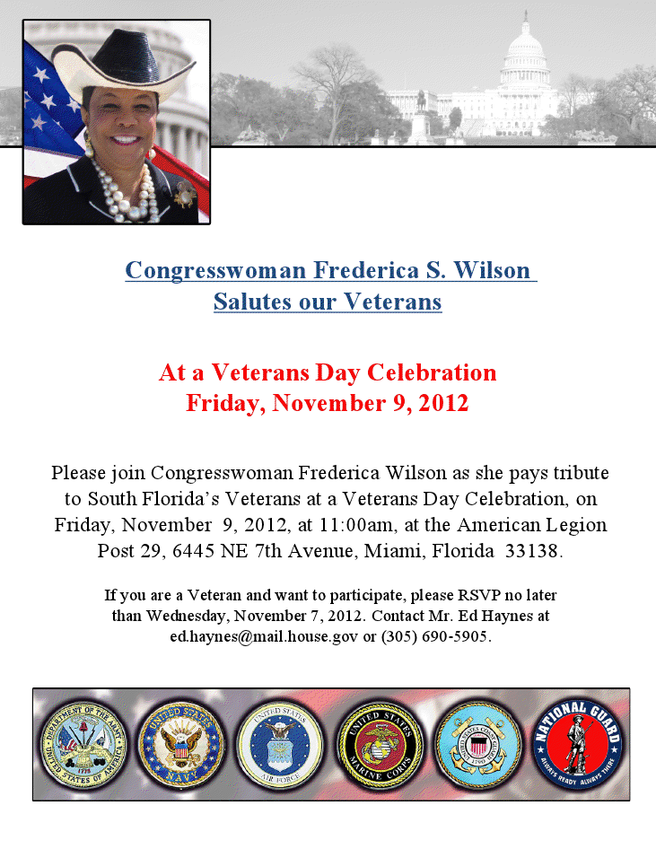 7732 Congresswoman Wilson Veterans Day Salute