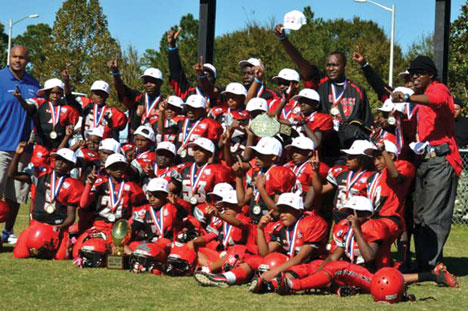 INNIER CITY FOOTBALL Inner city football team makes history and wins it's first ever bid to Pop Warner's National Championship