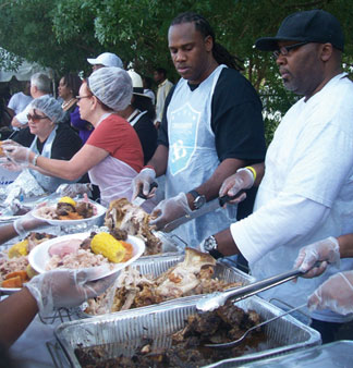 JOE ANN FLETCHER2 Saint Laurence Chapel Day Shelter team up with Crockett Foundation fourth annual Thanksgiving Feast