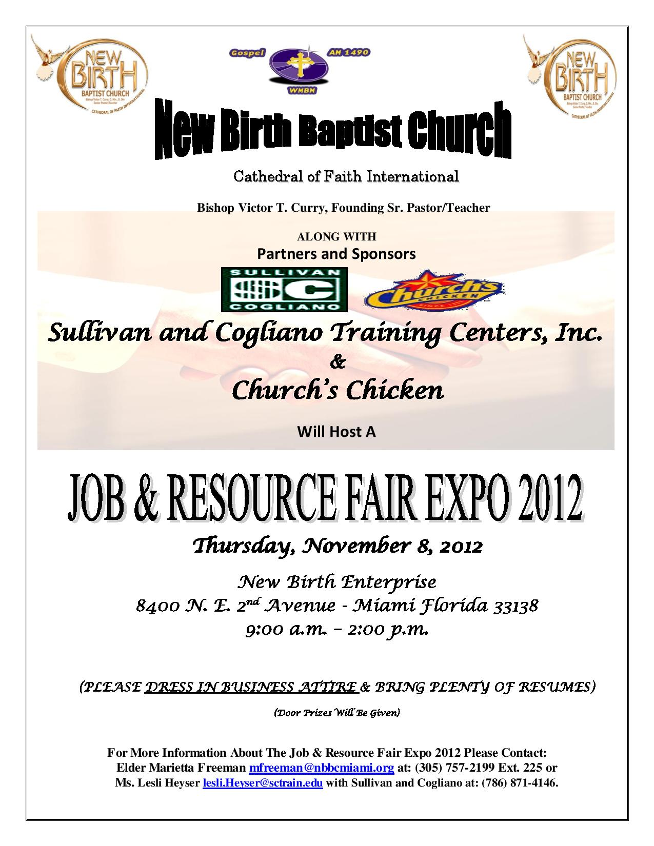 Job Fair Flyer Nov. 8 20121 page 001  November Job Fair