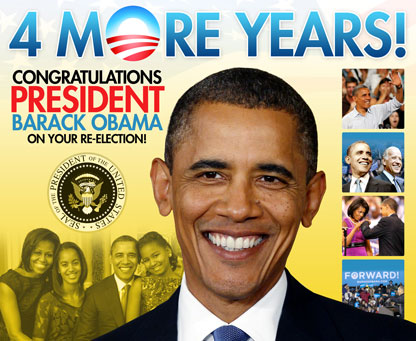 Obama 1 2 4 More Years!