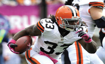 Sports Page Trent Richardso Trent Richardson ties Jim Brown's rookie TD mark