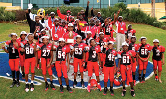 Tacolcy National Champs21 Tacolcys Jr. Peewee Raiders prove theyre number one by bringing home the Pop Warner Super Bowl National Championship Trophy