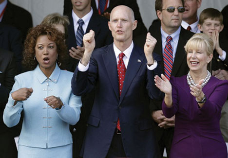 GOV. SCOTT LT Governor Scott, Lt. Governor Carroll and First Lady Ann Scott announce 2013 Black History Month Contests