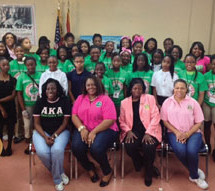 Saint Laurence Chapel Day Shelter partners with the ladies of Alpha Kappa Alpha Sorority, Incorporated for day of service