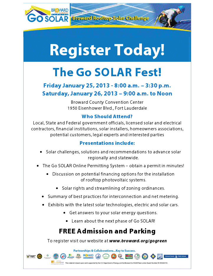 viewer Register Today! Go SOLAR Fest is FREE
