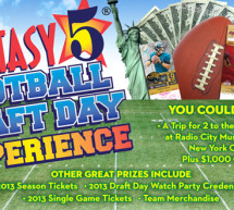 HOW WOULD YOU LIKE TO WIN A TRIP TO NEW YORK TO ATTEND THE 2013 PROFESSIONAL FOOTBALL DRAFT?