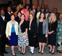 Broward County School Board Superintendant Mr. Robert Runcie along with eight of the nine women that make up BCSB, joined with other elected officials at a program