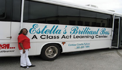 KATHY Estella and bus Palm Beach woman dedicates her retirement years to uplifting the lives of those less fortunate in PBC