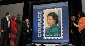 ROSA PARKS STAMP21 Troy University and the U.S. Postal Service launch Rosa Parks' 100th birthday celebration with historic stamp unveiling