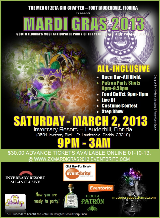 b  PATRON TEQUILA Now You Are Ready To Party   Mardi Gras 2013 | South Floridas Most Anticipated Party of the Year | Saturday, March 2, 2013 | Inverrary Resort   Lauderhill, Florida | ***Advance Tickets Online***
