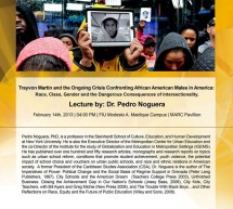 Dr. Pedro Noguera Lecture This Thursday at 4 PM at MARC Pavilion at FIU
