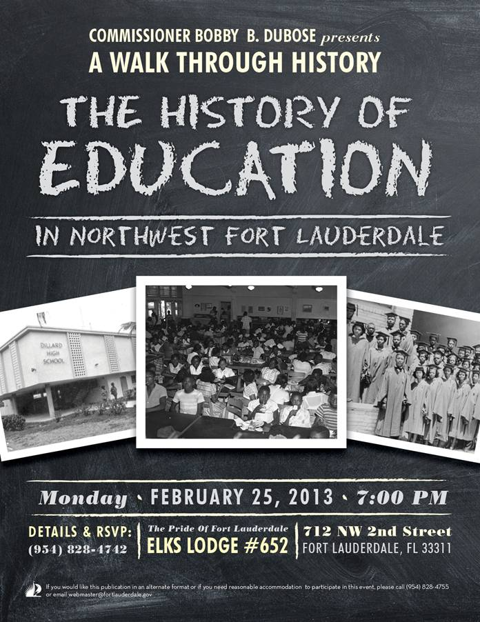 walk COMISSIONER BOBBY B. DUBOSE  presents A  WALK THROUGH HISTORY  THE HISTORY OF EDUCATION