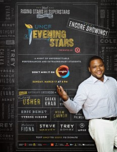 AEOS re air eBlast Centric 231x300  UNCF An Evening of StarsR Presented by Target   Encore Airing!   Sunday, March 17 at 8pmET