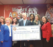 Governor Rick Scott, Superintendent Bob Runcie and 8 of the 9 Leading Ladies of the Broward County School Board.