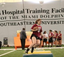 MIAMI DOLPHINS HOST GIRLS HIGH SCHOOL FLAG FOOTBALL CLINIC AT THE DOCTORS HOSPITAL TRAINING FACILITY