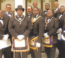 Members of McDonald Lodge #70 AF&AM of Fort Lauderdale, Florida  joins Mt. Hermon AME Church family for a day of worship