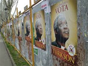 Promotional posters of Cardinal Turkson may damage his chance of being Pope